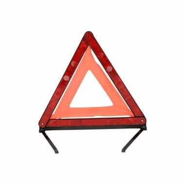 2x gevaren driehoek in koffertje 45 x 40 cm