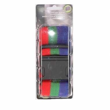3 kleuren verstelbare kofferriem extra sterk