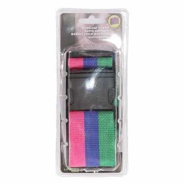 3 kleurige verstelbare kofferriem extra sterk