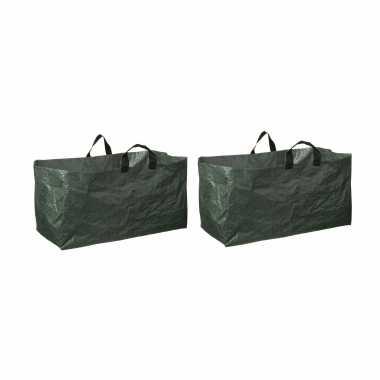 4x groene kofferbak afvalzakken opvouwbaar 225 liter
