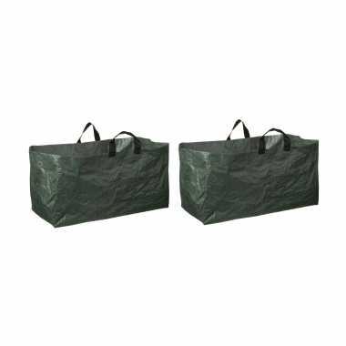 6x groene kofferbak afvalzakken opvouwbaar 225 liter