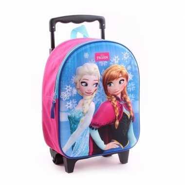 Frozen koffer trolley roze voor meisjes