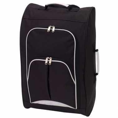 Handbagage reiskoffer/trolley zwart 55 cm