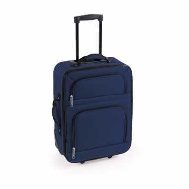 Handbagage trolley blauw 50 cm