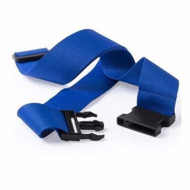Kofferriem blauw 180 cm