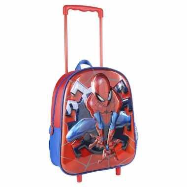 Marvel spiderman trolley reiskoffer rugtas voor kinderen
