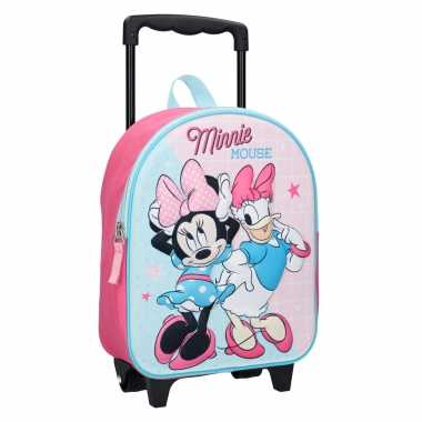 Minnie mouse handbagage reiskoffer trolley 31 cm voor kinderen 10218632