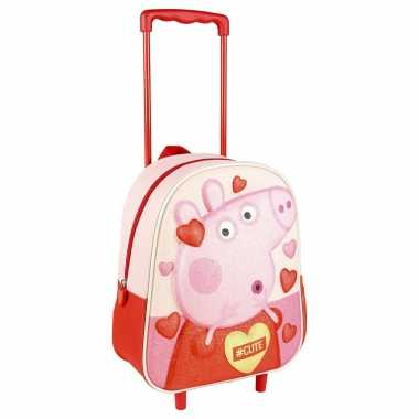 Peppa pig big trolley reiskoffer rugtas voor kinderen