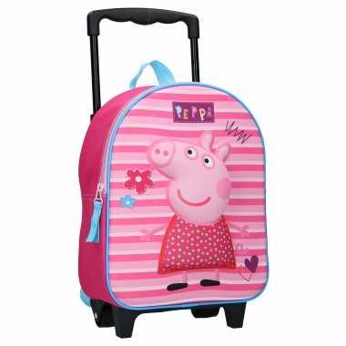 Peppa pig handbagage reiskoffer trolley 31 cm voor kinderen