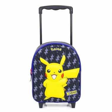 Pikachu 3d handbagage reiskoffer trolley 31 cm voor kinderen