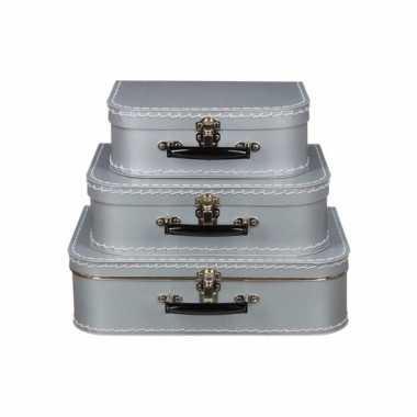 Speelgoedkoffertje zilver 35 cm
