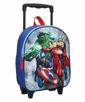 Avengers handbagage reiskoffer trolley 31 cm voor kinderen
