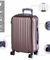 Cabine trolley koffer met zwenkwielen 33 liter goud 10296524