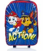 Paw patrol handbagage reiskoffer trolley 42 cm voor kinderen