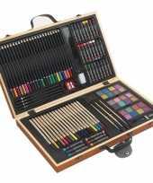 Tekenset kleurset koffer 88 delig